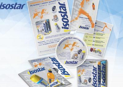Zaprojektowane materiały promocyjne isostar